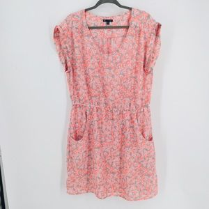 Gap XL Dress W/ Pockets Peachy-pink Floral